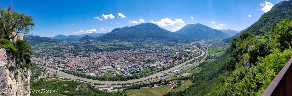 Panoramic view of Trento from Sardagna