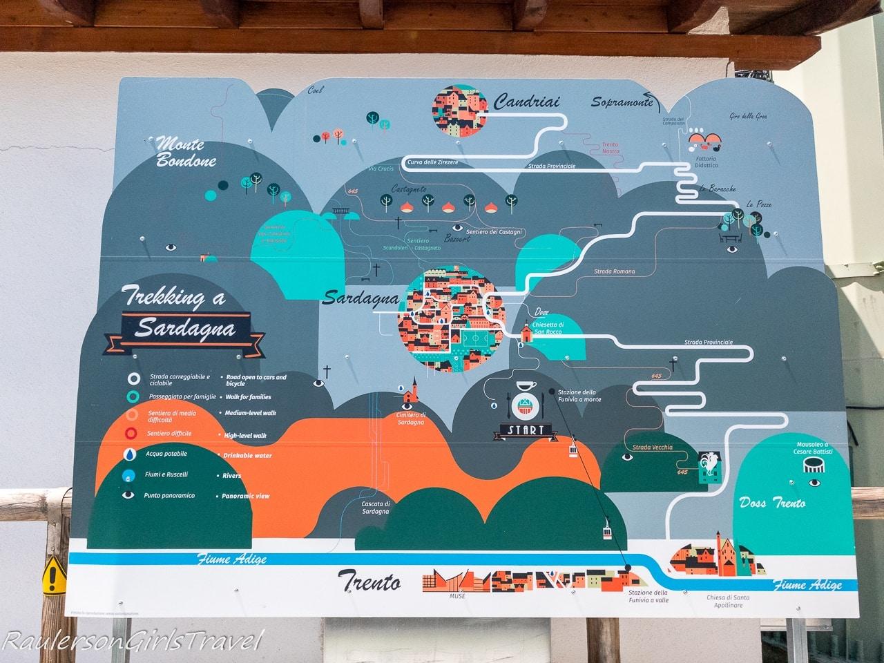 Map of Sardagna