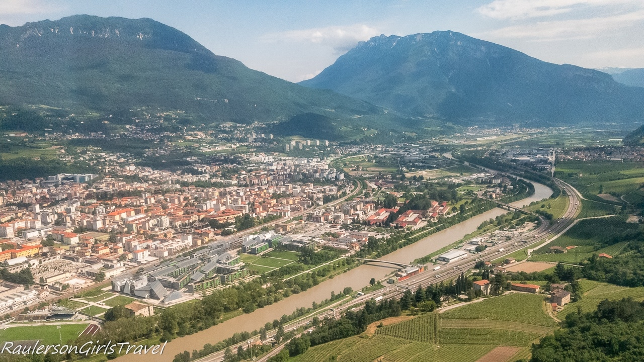 View of Trento from the south