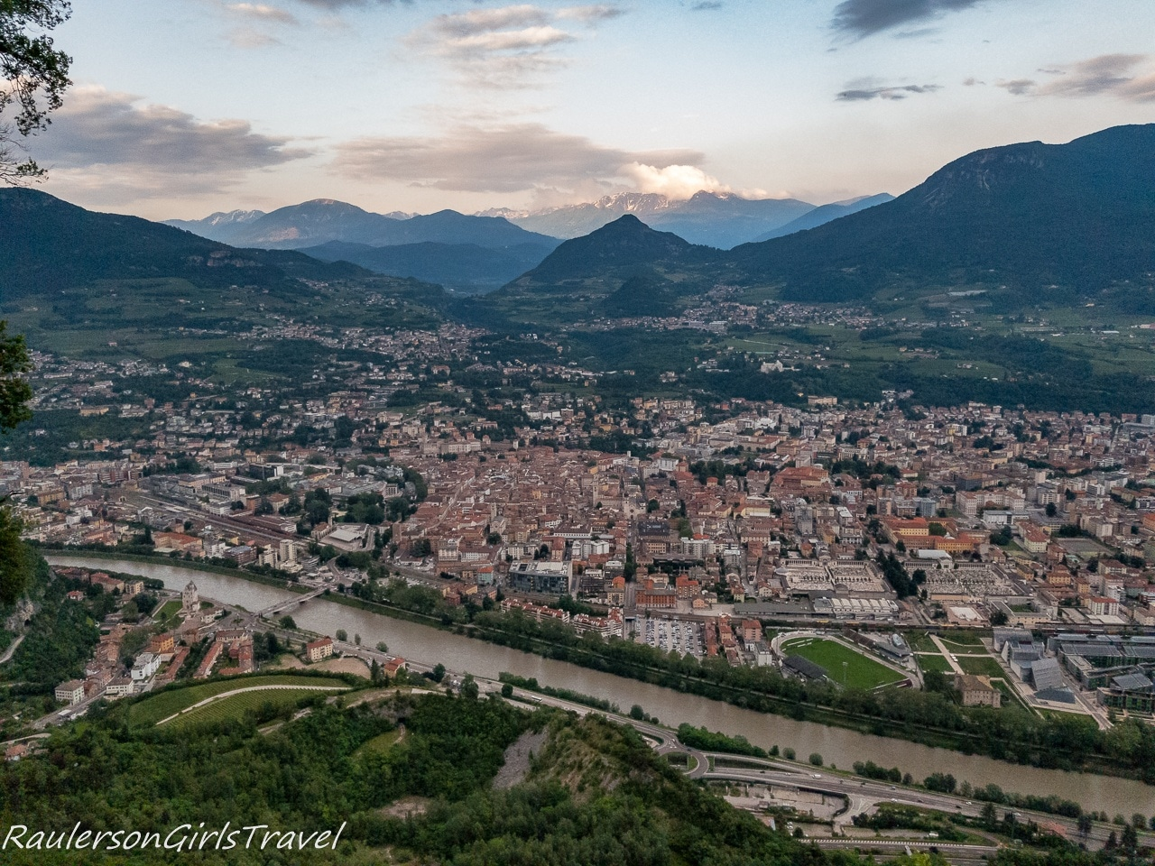 View of Trento from Sardagna at sunset - Trento Cable Car