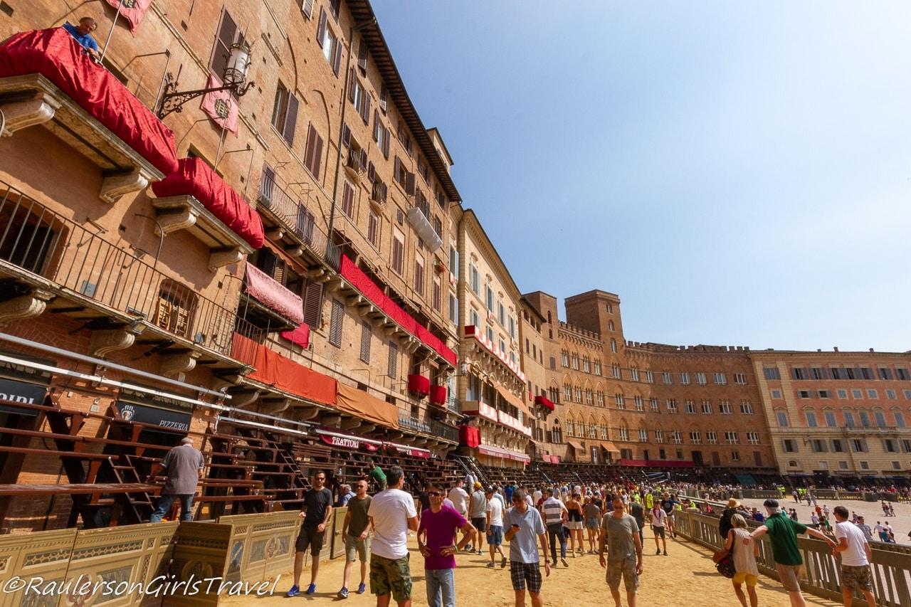 Palio Race course in Piazza del Campo