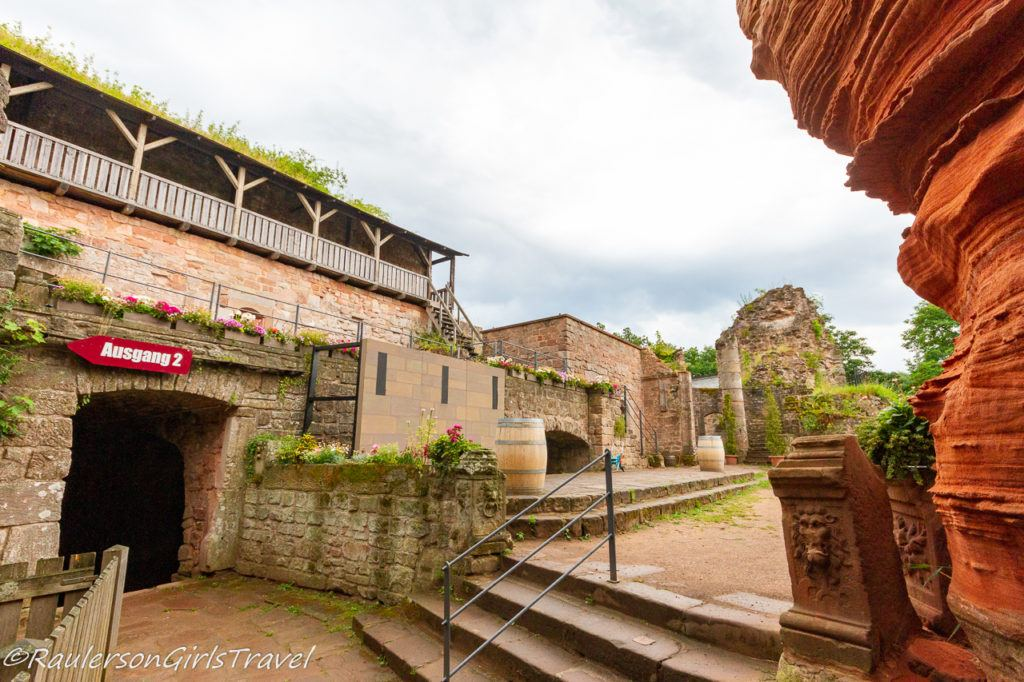 entrance to castle yard ruins of Castle Nanstein