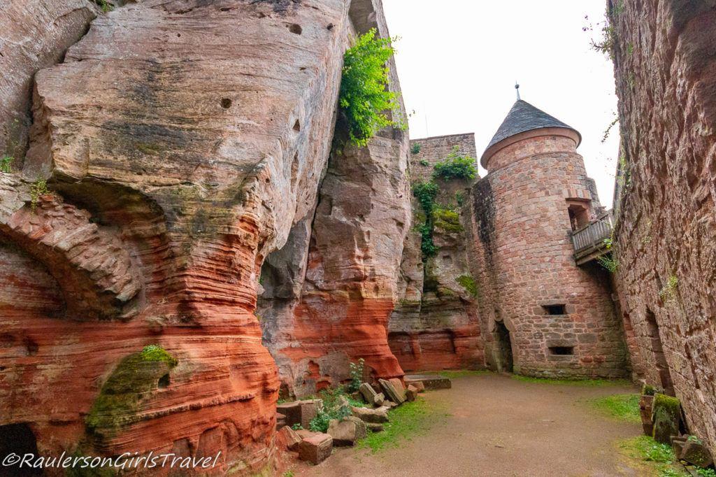 castle yard ruins of Castle Nanstein