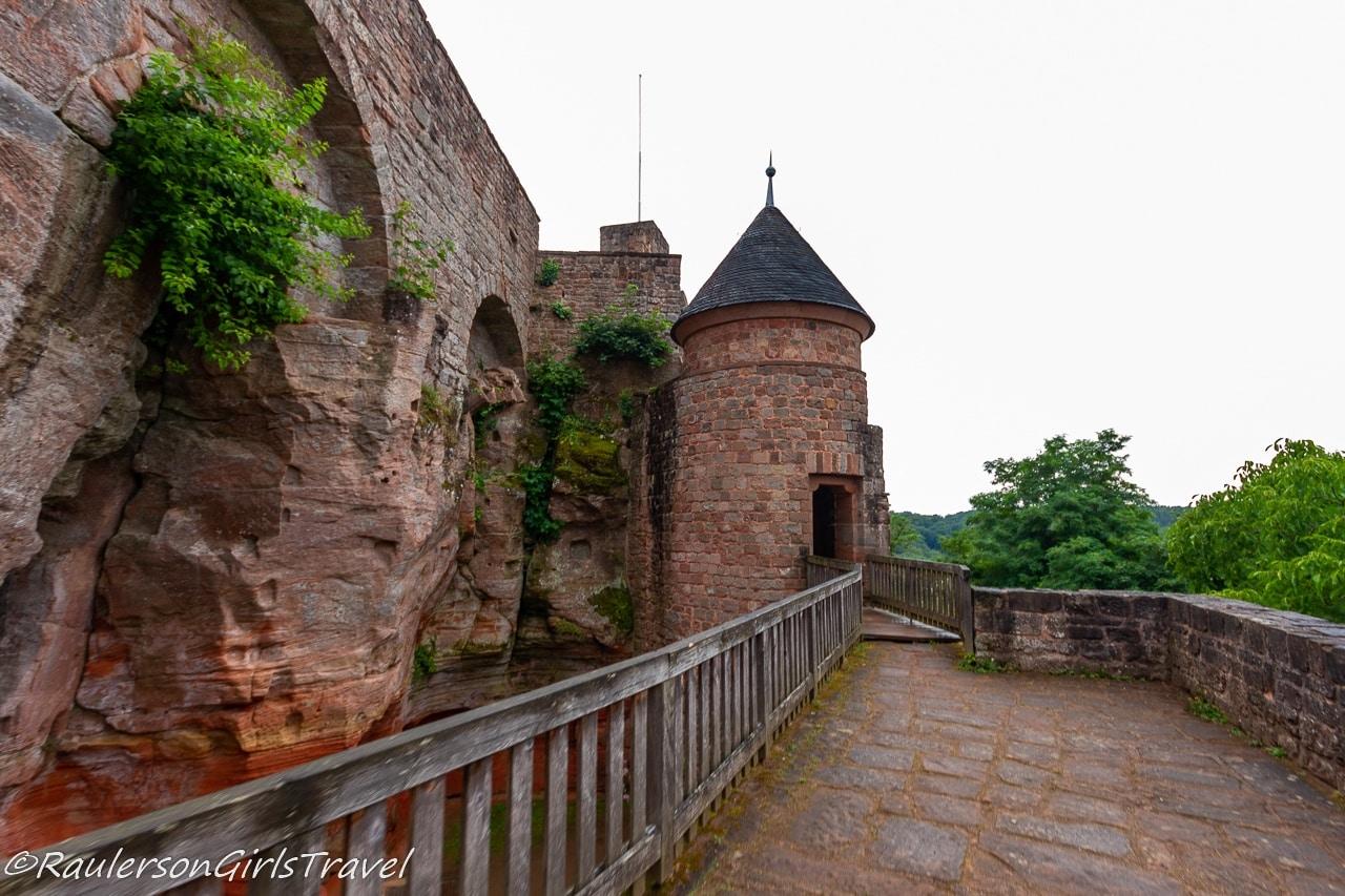 walkway in Nanstein Castle