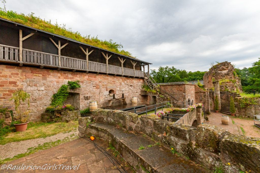 balcony terrace of Castle Nanstein