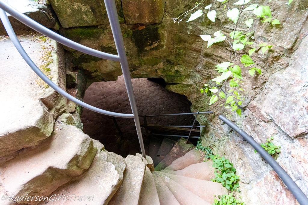Stairway to dungeon in Castle Nanstein