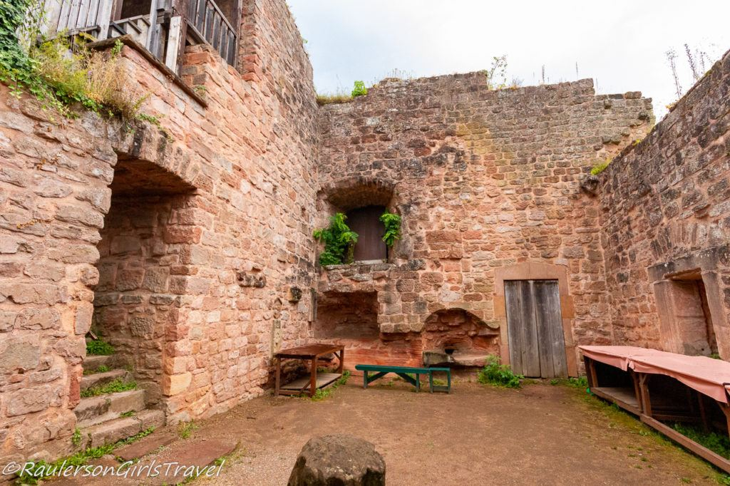 castle yard of Castle Nanstein