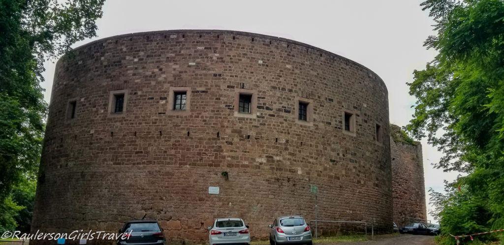 Round turret in Nanstein Castle