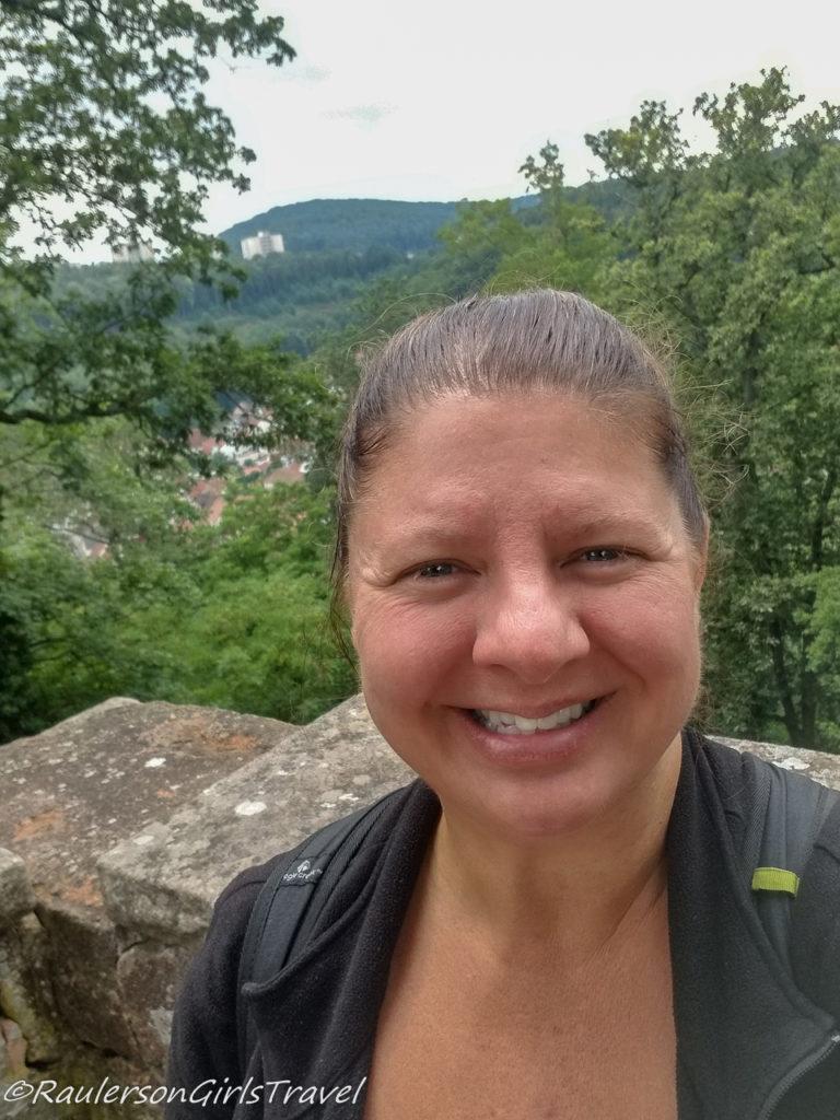 Heather on the Nanstein Castle walls