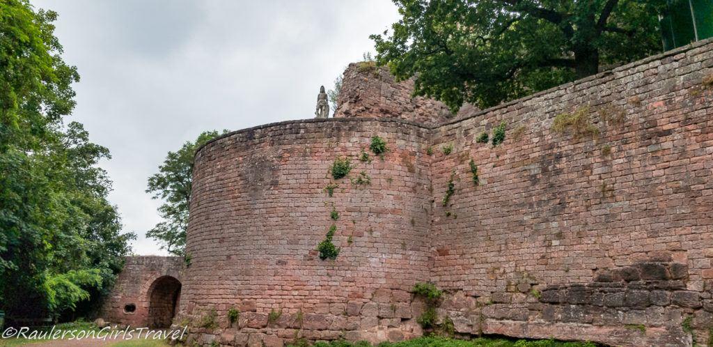 round turret of Nanstein Castle