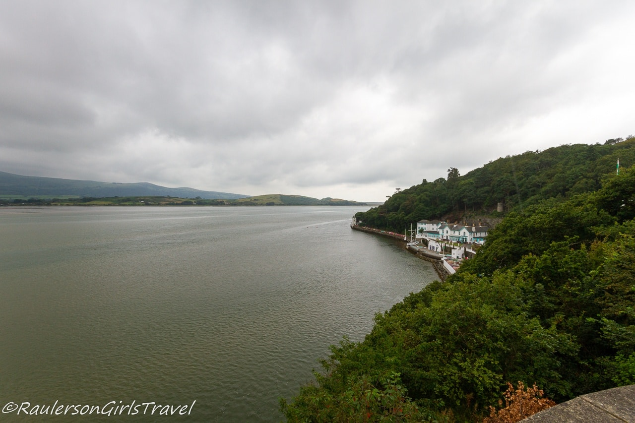 View of River Dwyryd from Portmeirion Village