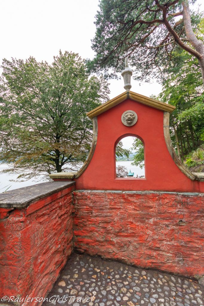 Wall in Portmeirion Village