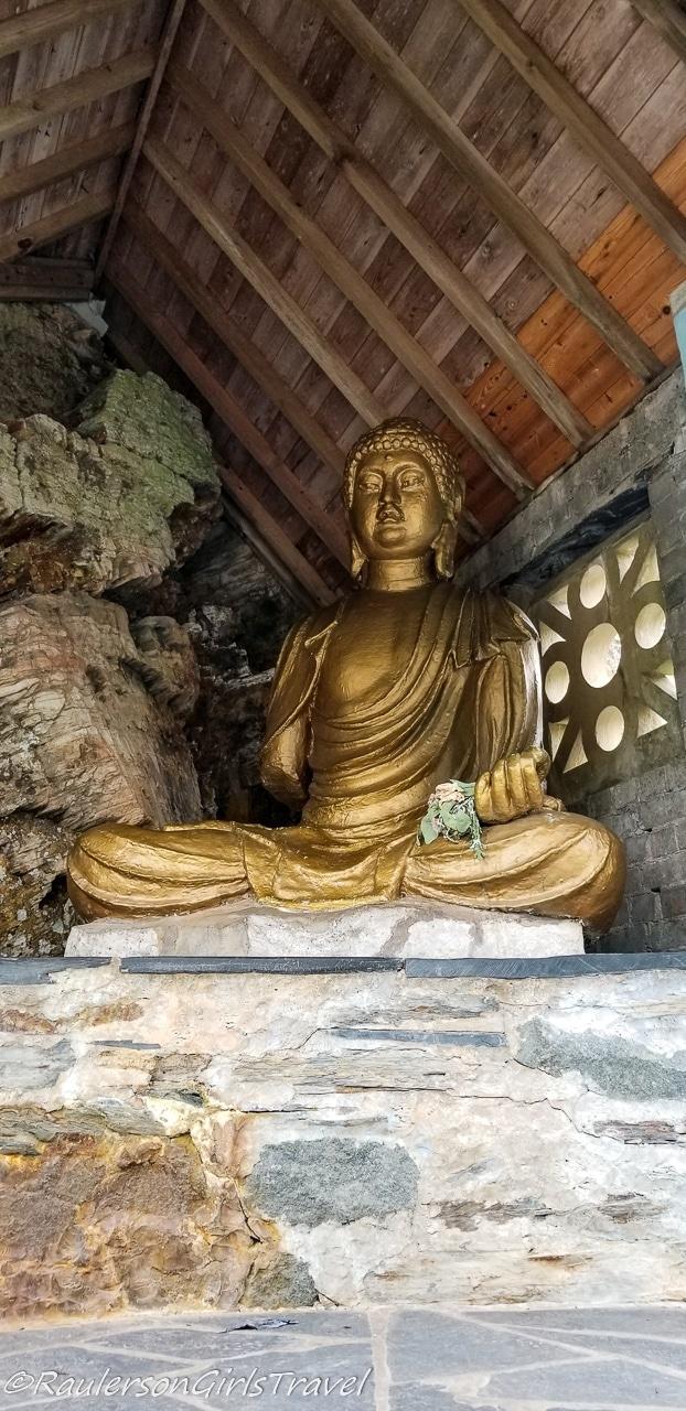 Buddha statue at Portmeirion