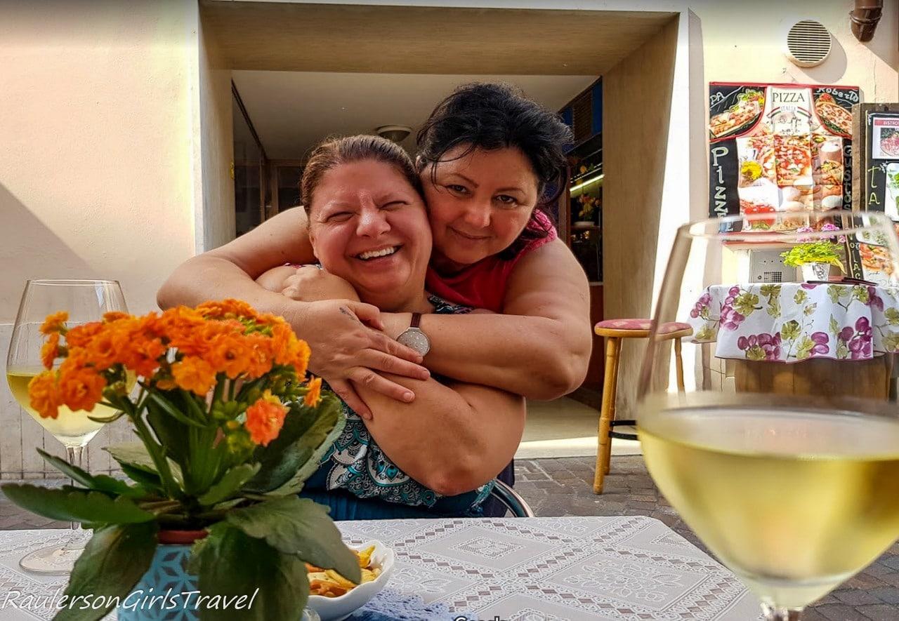 Heather and owner of Caffee del Centro in Riva del Garda