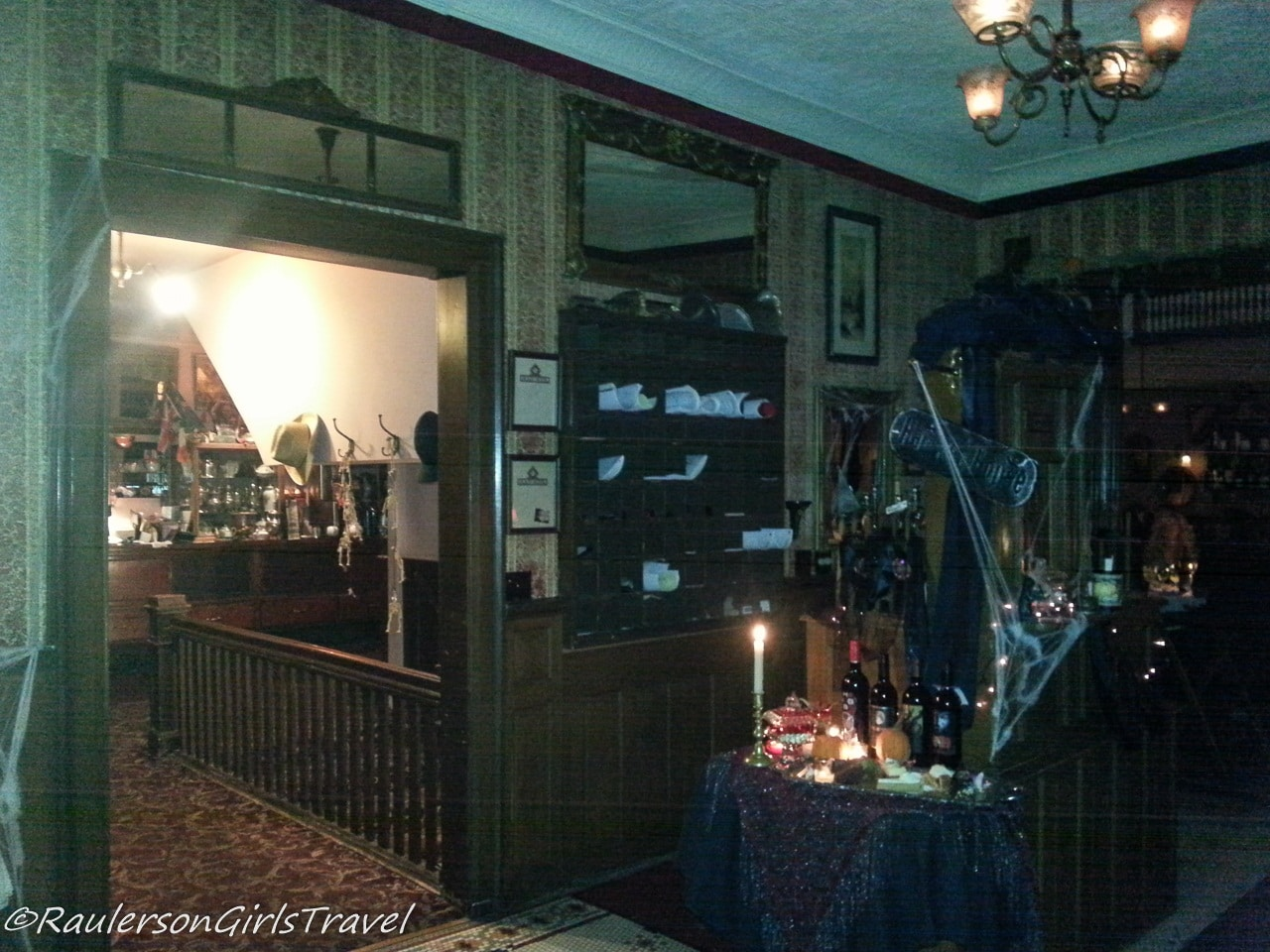 Interior of Holly Hotel at Halloween