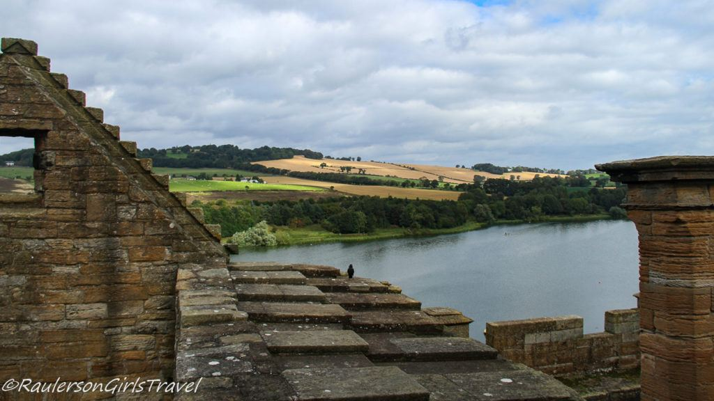 View of Linlithgow Loch from top of Linlithgow Palace