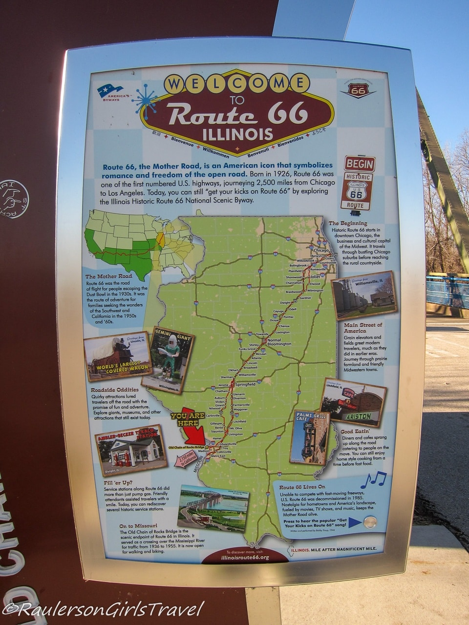Welcome to Route 66 Illinois Sign