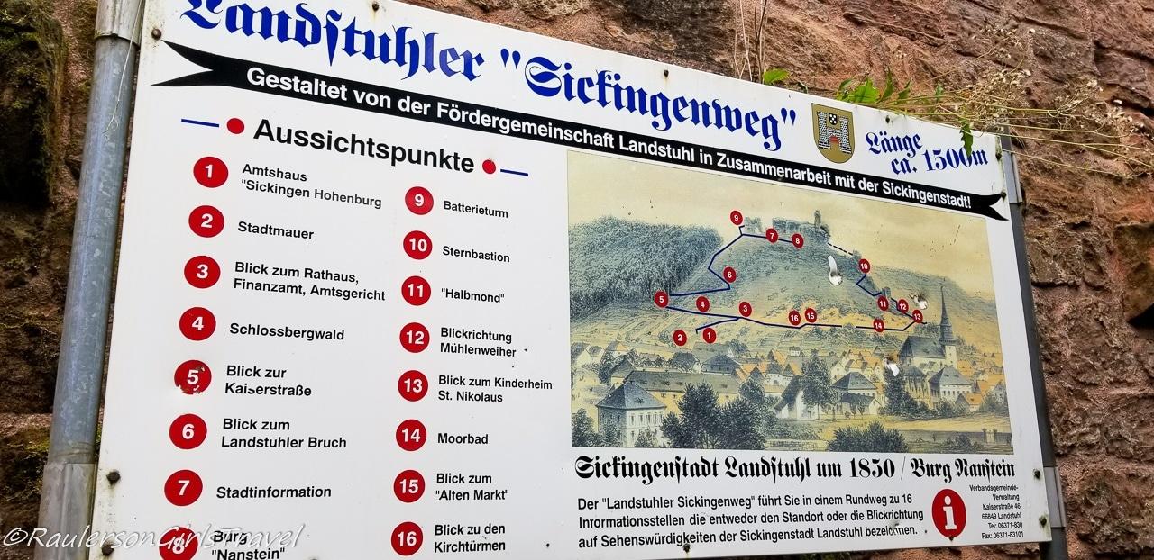 Map of Landstuhl Landmarks