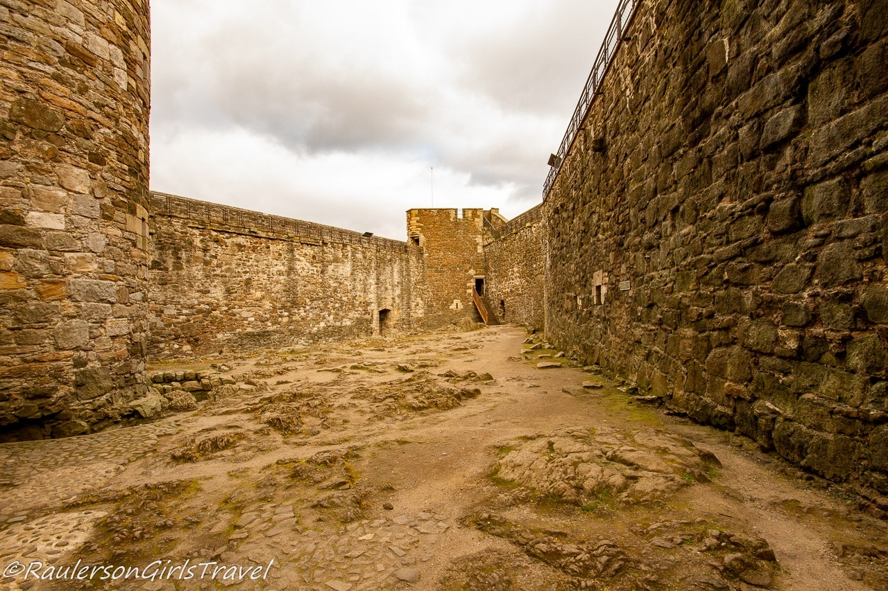 Interior courtyard in Blackness Castle - Outlander Tour Scotland