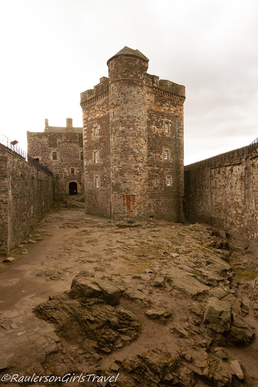 Interior courtyard in Blackness Castle