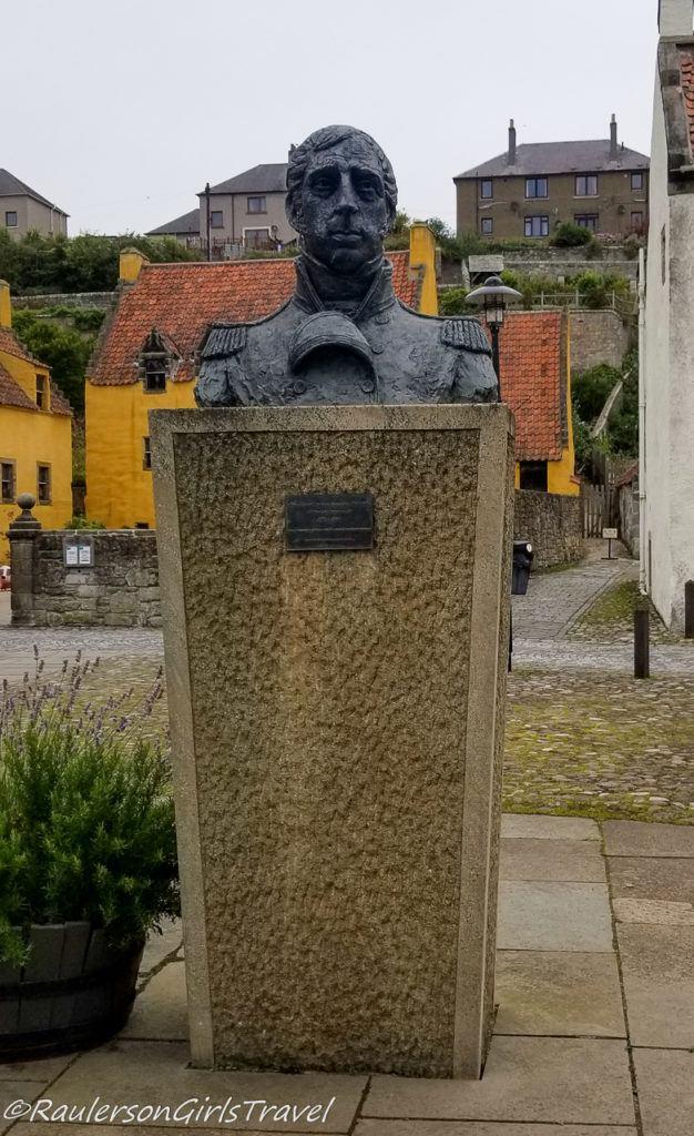 Bust of Admiral Lord Thomas Alexander Cochrane in Culross
