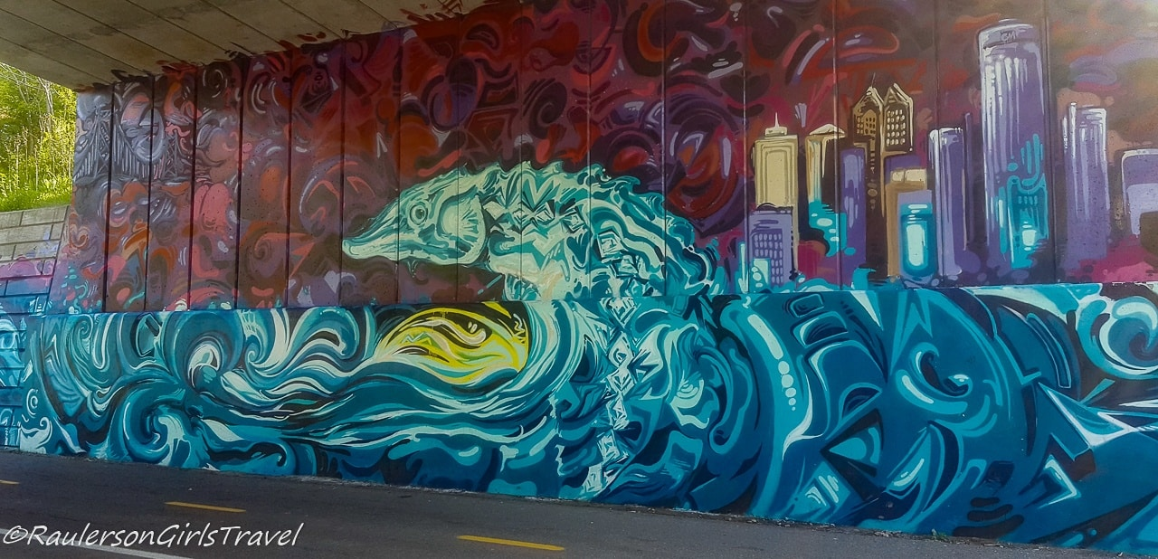 Street Art on Dequindre Cut - sea monster