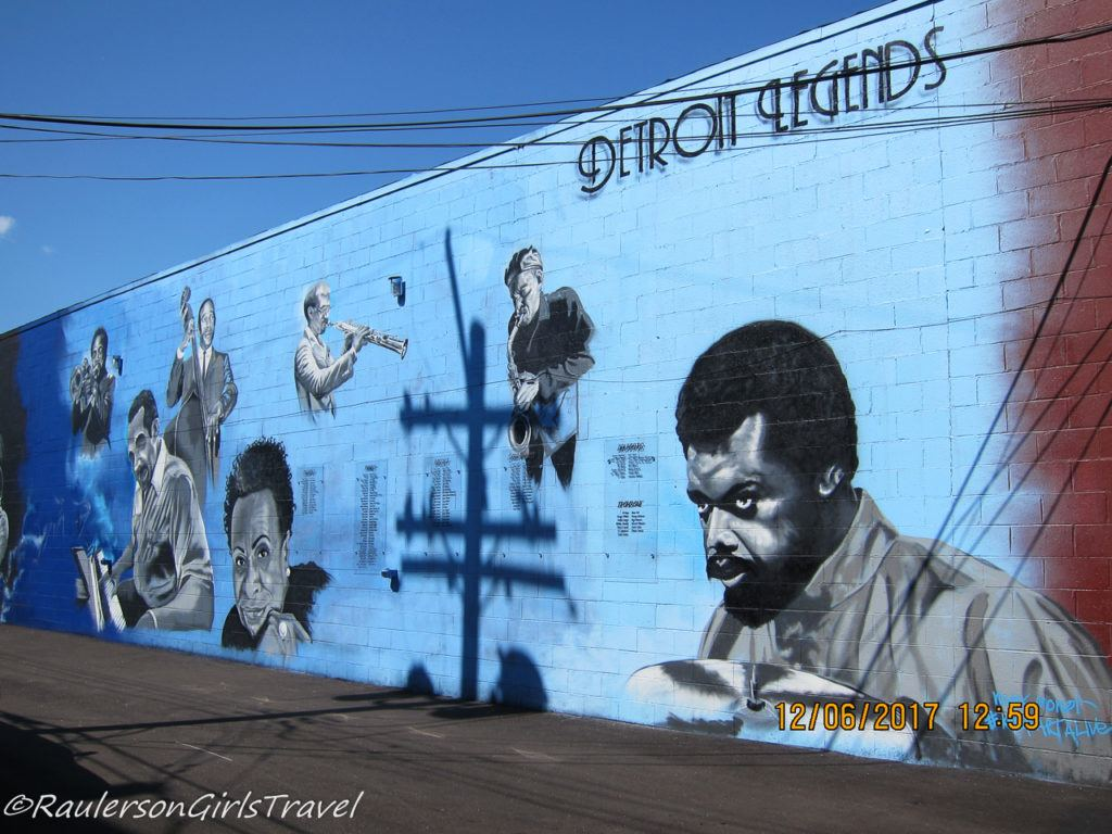 Detroit Street Art - Bert's Warehouse jazz mural