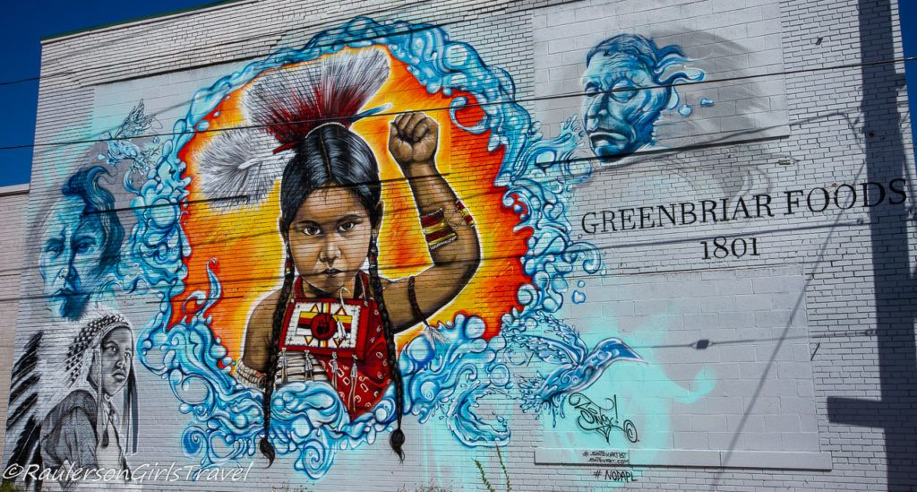 Detroit Street Art - Little Native American