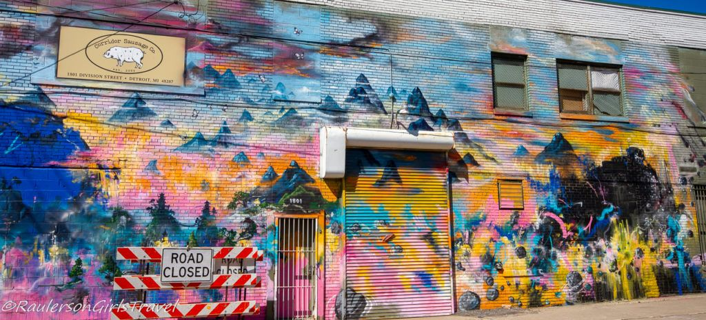 2016 Murals in the Market - colorful mountains