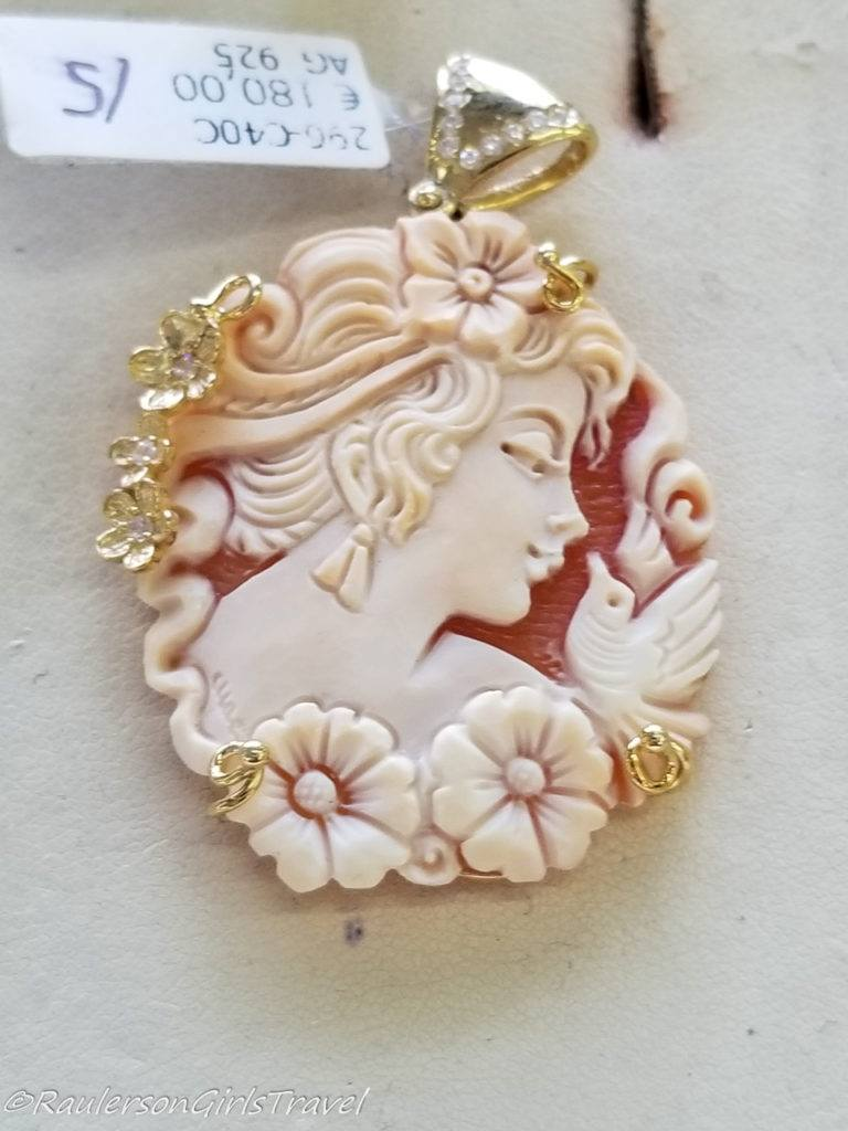 Cameo in Cameo/Coral Factory in Naples, Italy