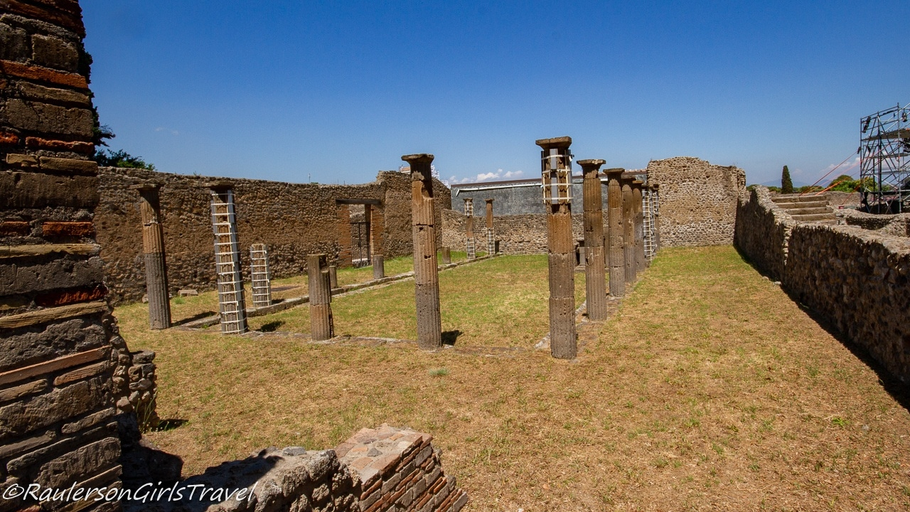 Pillar ruins in Pompeii