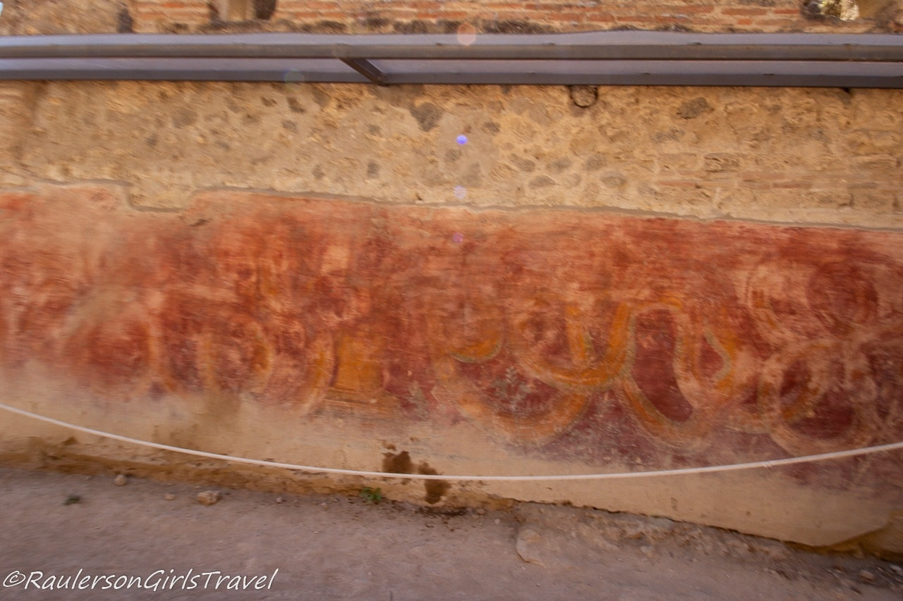 Drawings on a wall in Pompeii