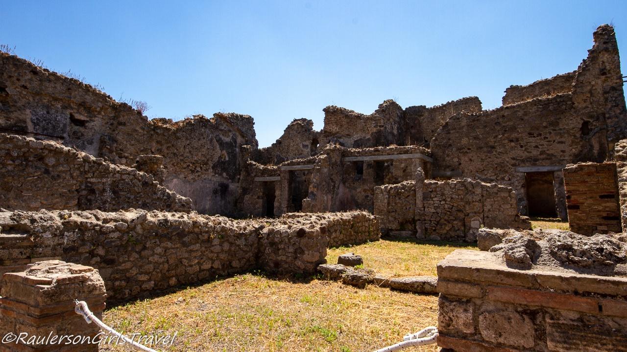 Building ruins in Pompeii