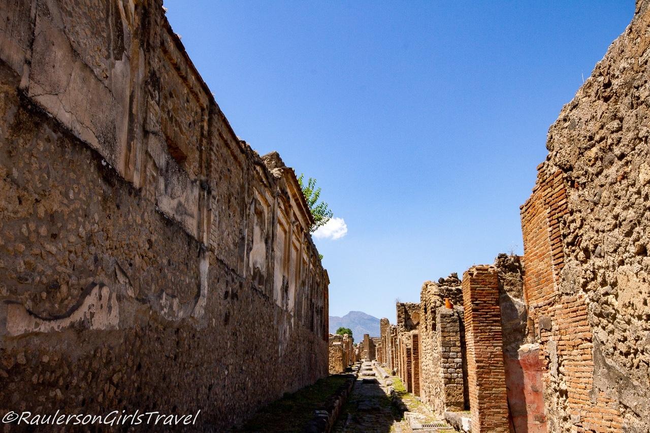 Ruined street in Pompeii