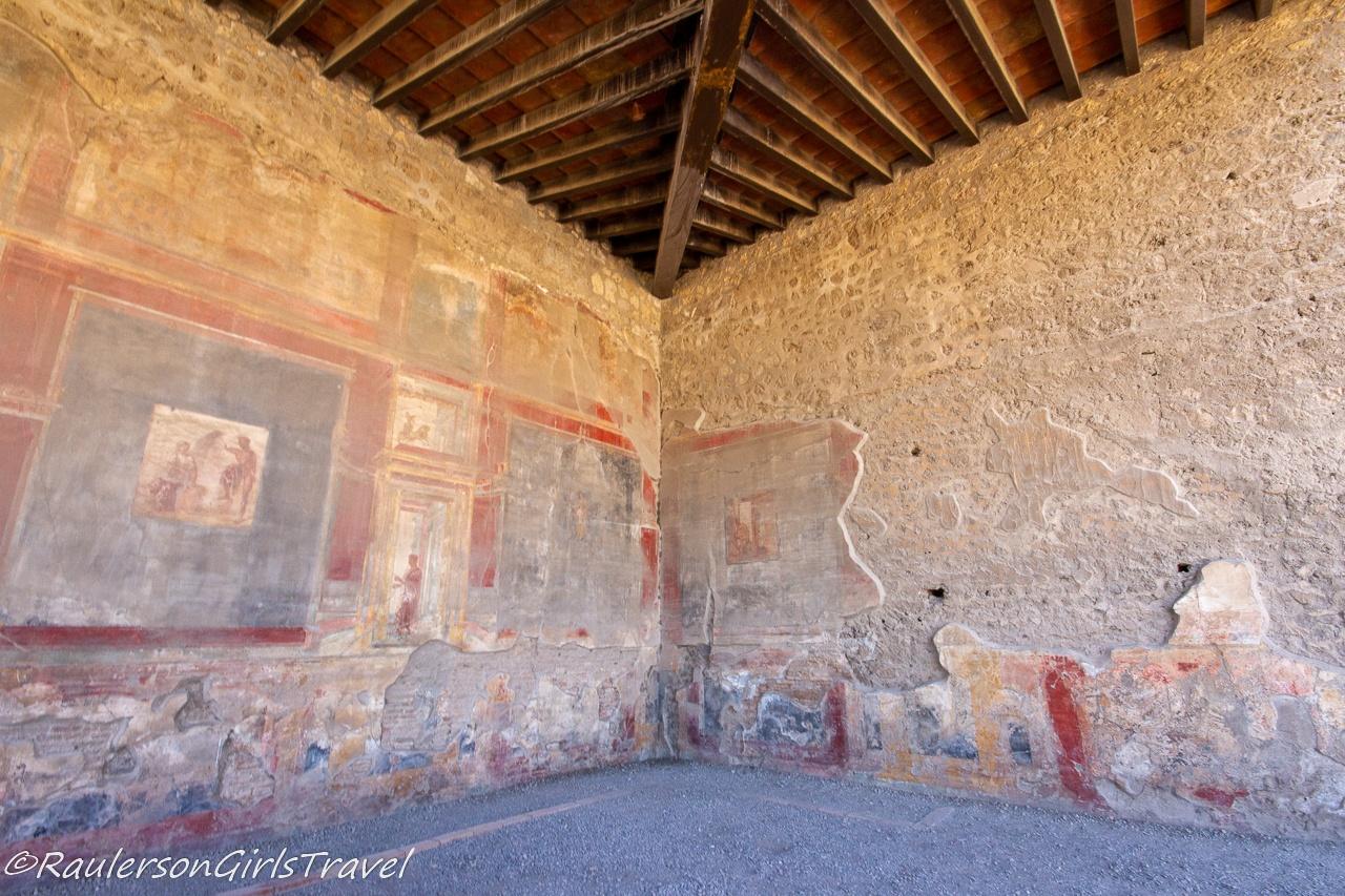 Drawings in Macellum - Fish Market in Pompeii