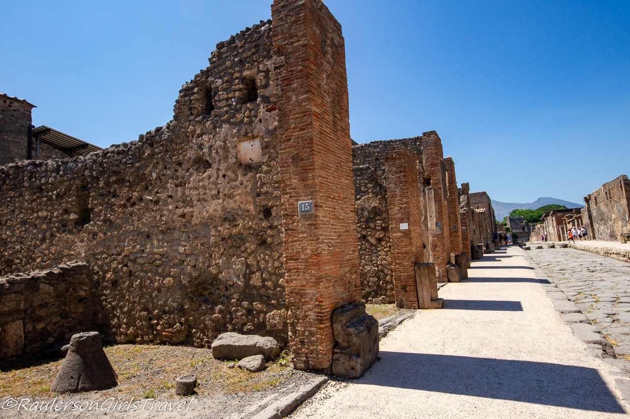 Ruins on a Street in Pompeii