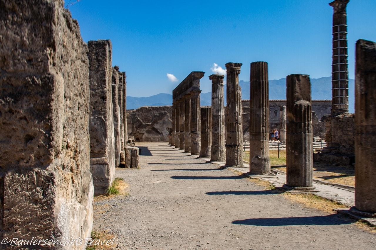 Temple of Apollo ruins in Pompeii