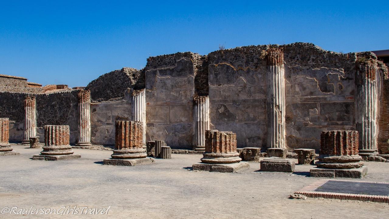 Basilica ruins in Pompeii