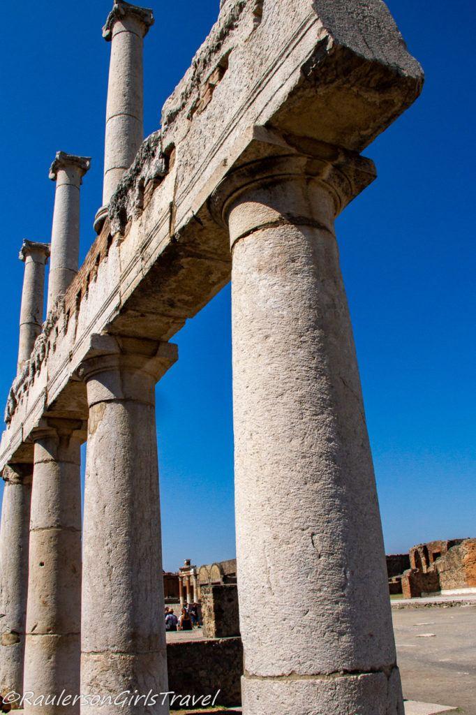 Pillars in the Forum in Pompeii