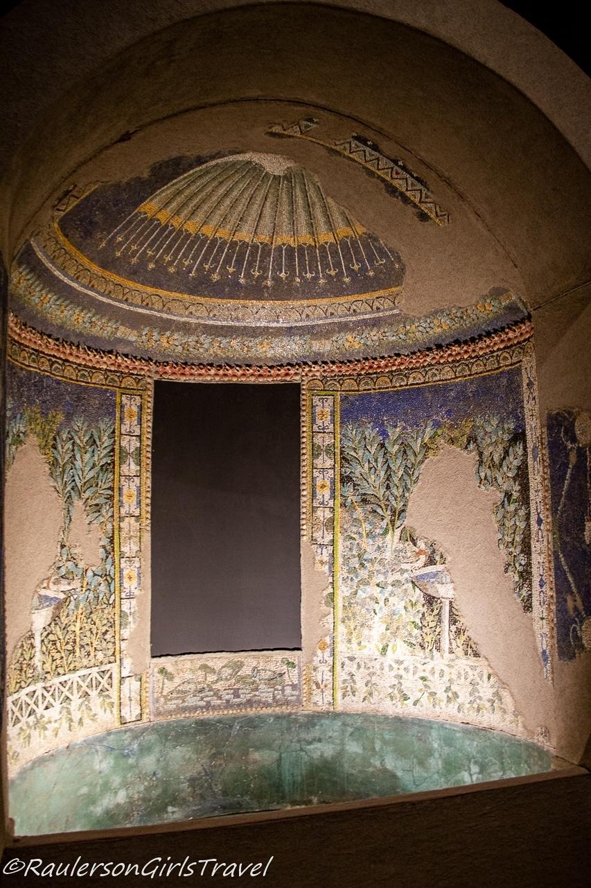 Mosaic Ruin at Pompeii Museum