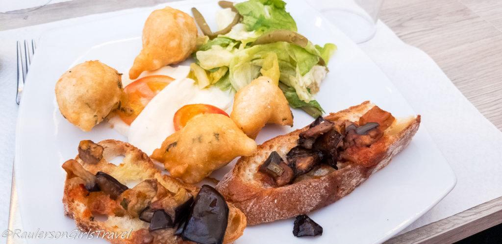 Appetizer at Santuario Restaurant in Pompei
