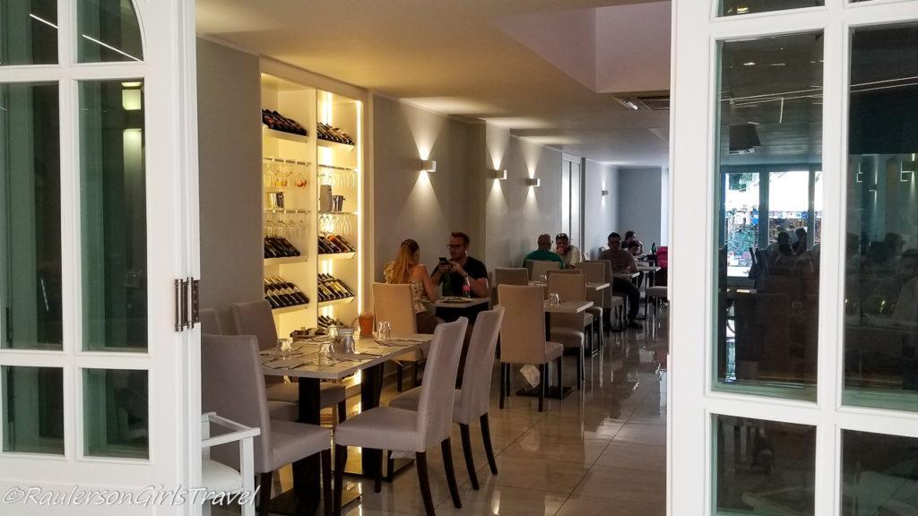 Inside of Santuario Restaurant in Pompei