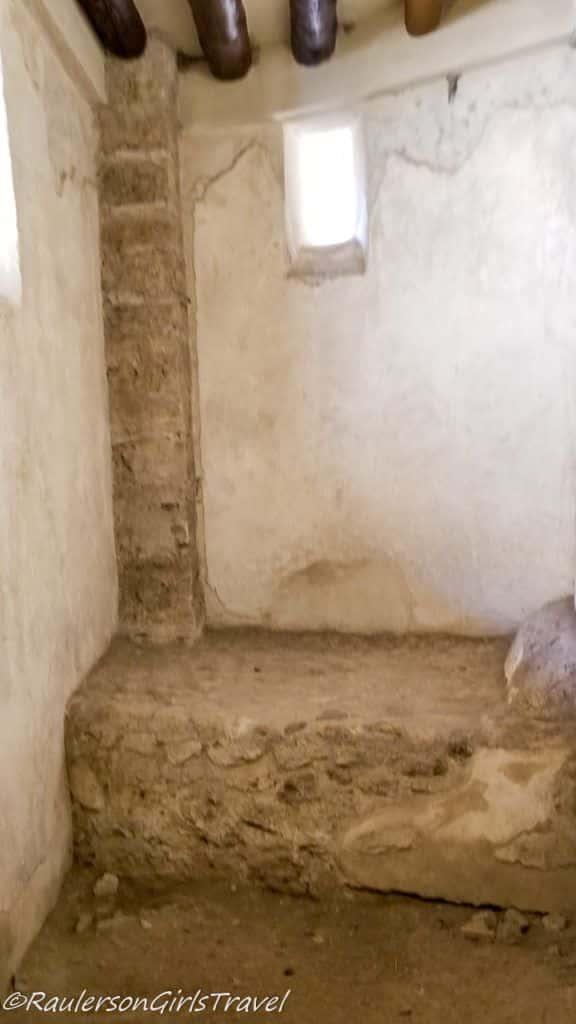 Bed in Lupanare - brothel in Pompeii