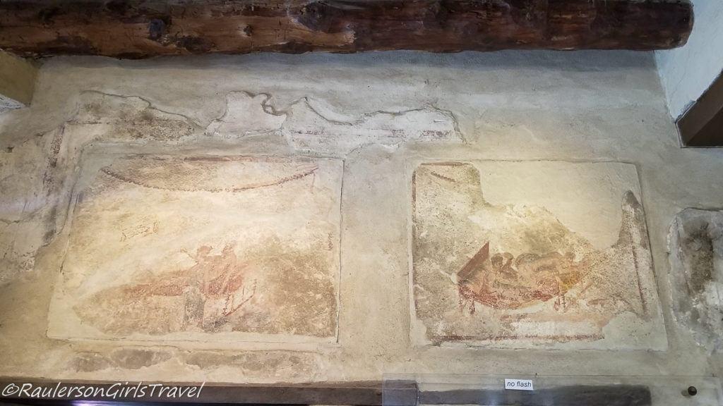 Drawings on Walls in Lupanare - brothel in Pompeii