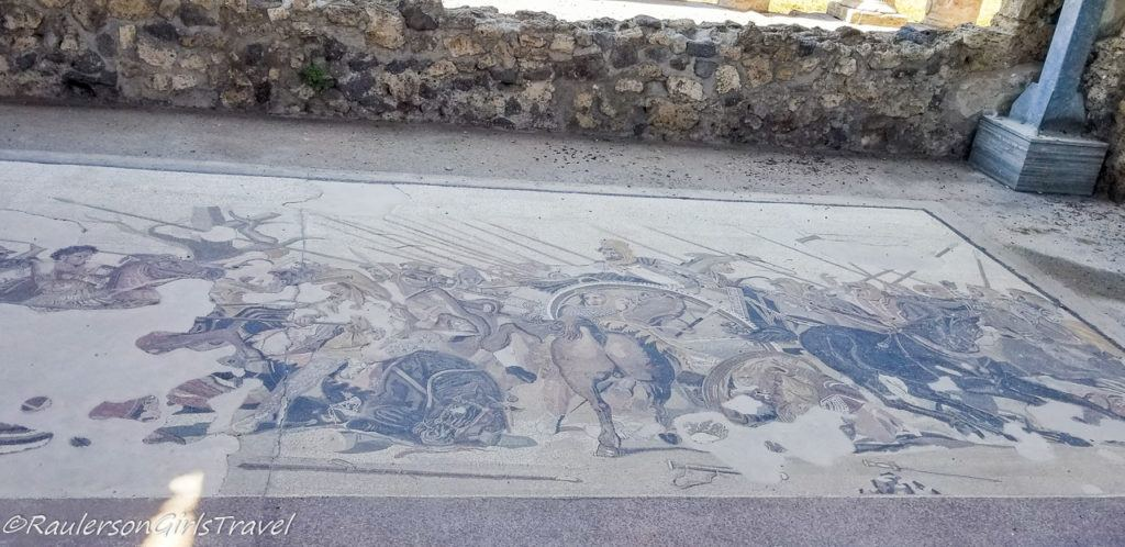 Detailed floor drawing in the House of Faun