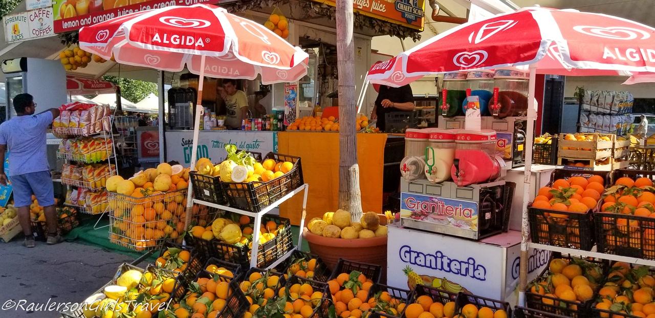 Orange Stands outside Pompeii