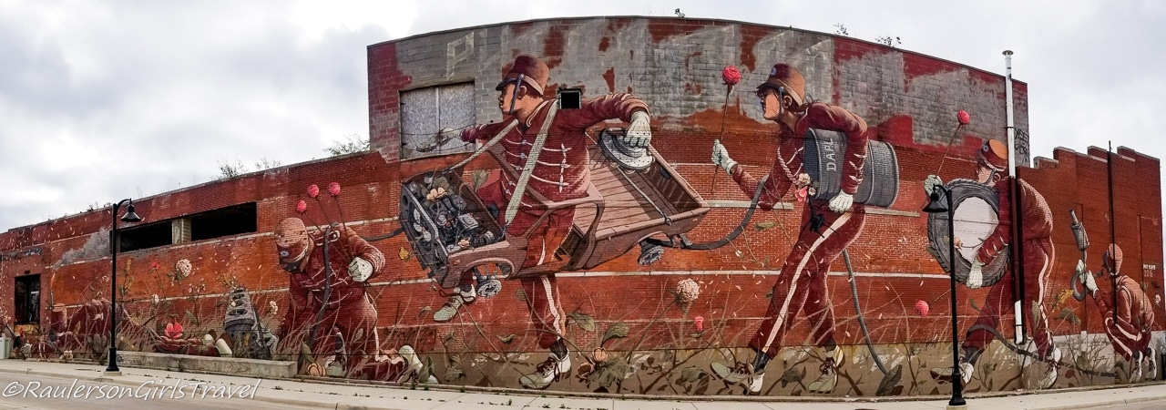 2016 Murals in the Market - band with car parts