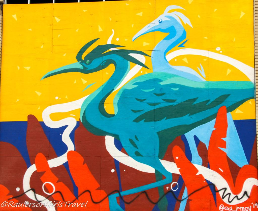 2019 Murals in the Market - cranes