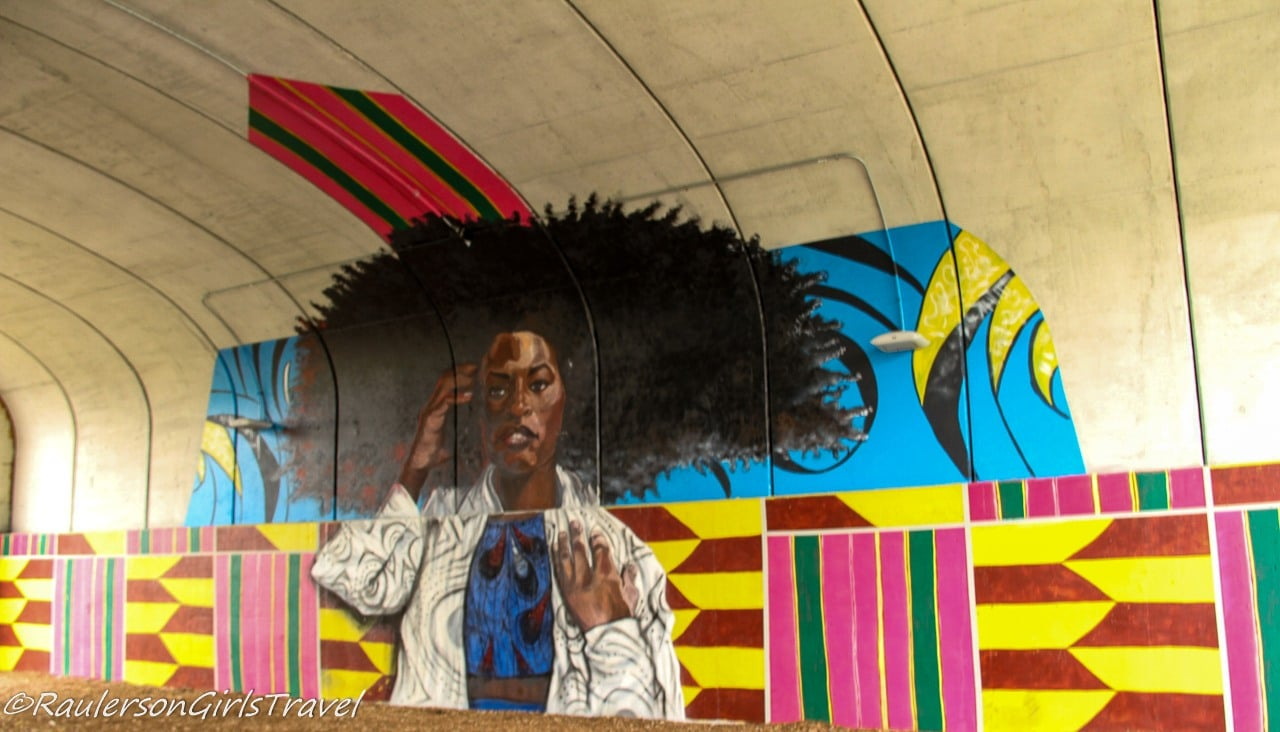 Street Art in Dequindre Cut - Beautiful African American