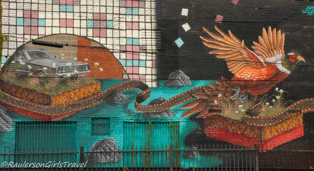 2017 Murals in the Market - car and hawk